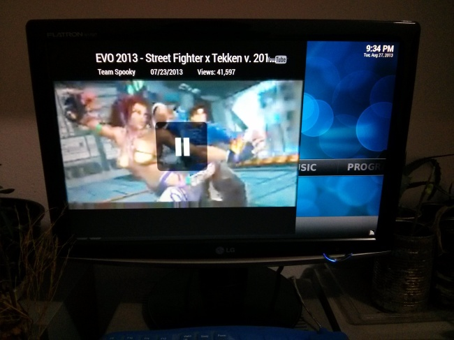 XBMC and Youtube video